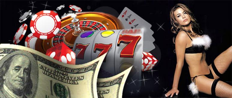 Juegos de casino, chica sexy